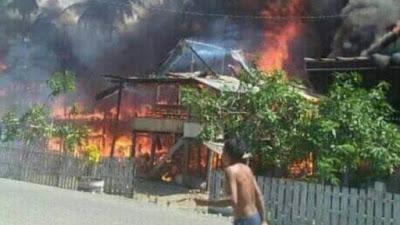 Lagi, Kebakaran Dahsyat di Bone Hanguskan 7 Rumah Warga