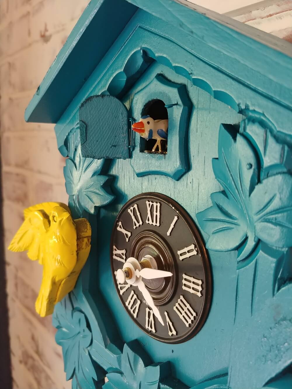 Upcycled Cuckoo Clock side view