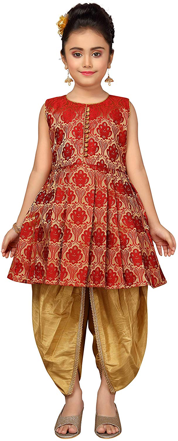 Adiva Kids Party Wear Patiala Suit For Girls