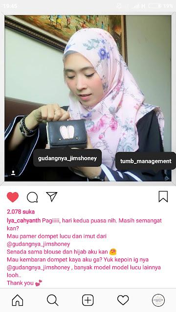 Endorse JH Allecia Bunny Wallet Gudangnya Jimshoney
