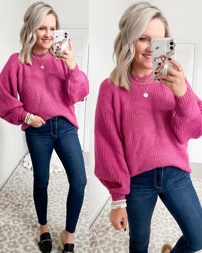 Scoop sweater from Walmart