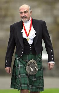 Sir Thomas Sean Connery in kilt
