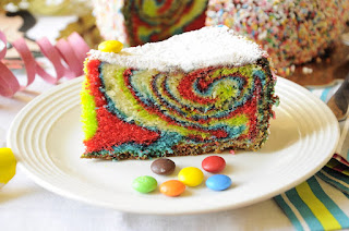 Thermomix Rainbow Swirl Cake Recipe