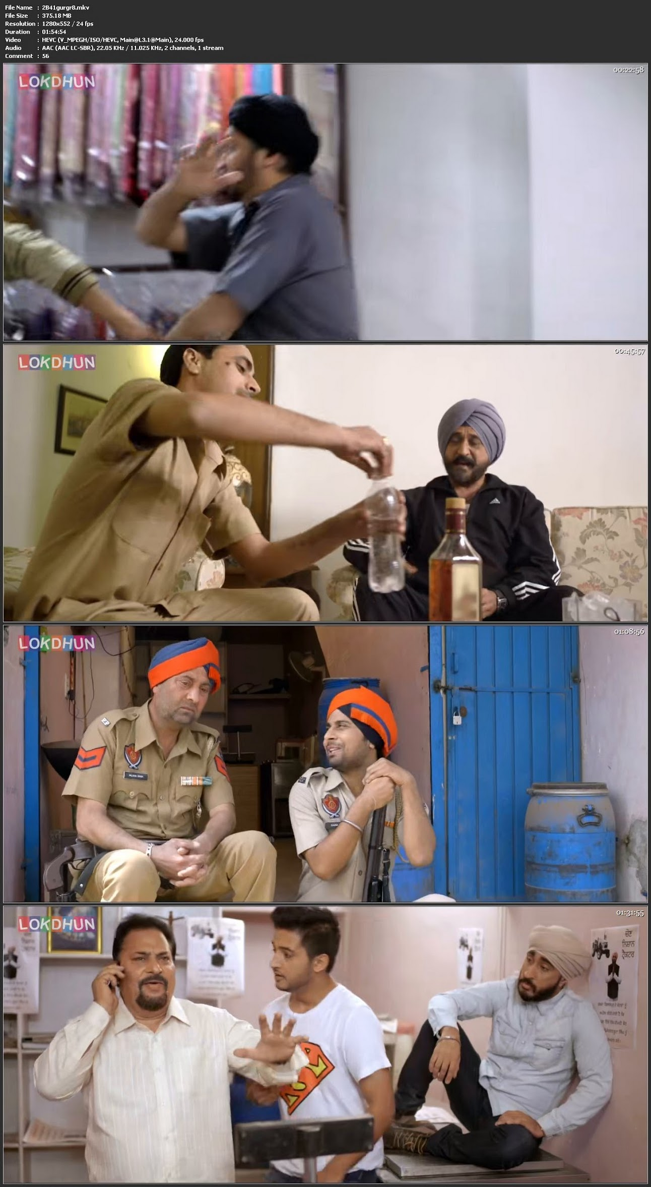 Screen Shot Of 22G Tussi Ghaint Ho 2015 Full HD Movie Free Download 720P Watch Online
