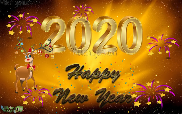 Happy New Year 2020 Golden Images Download For Desktop - New Year 2020 HD Golden Images Download Free