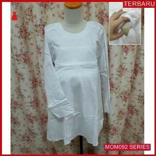 MOM092B15 Baju Atasan Hamil Putih Menyusui Bajuhamil Ibu Hamil
