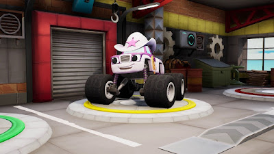 Blaze And The Monster Machines Axle City Racers Game Screenshot 2