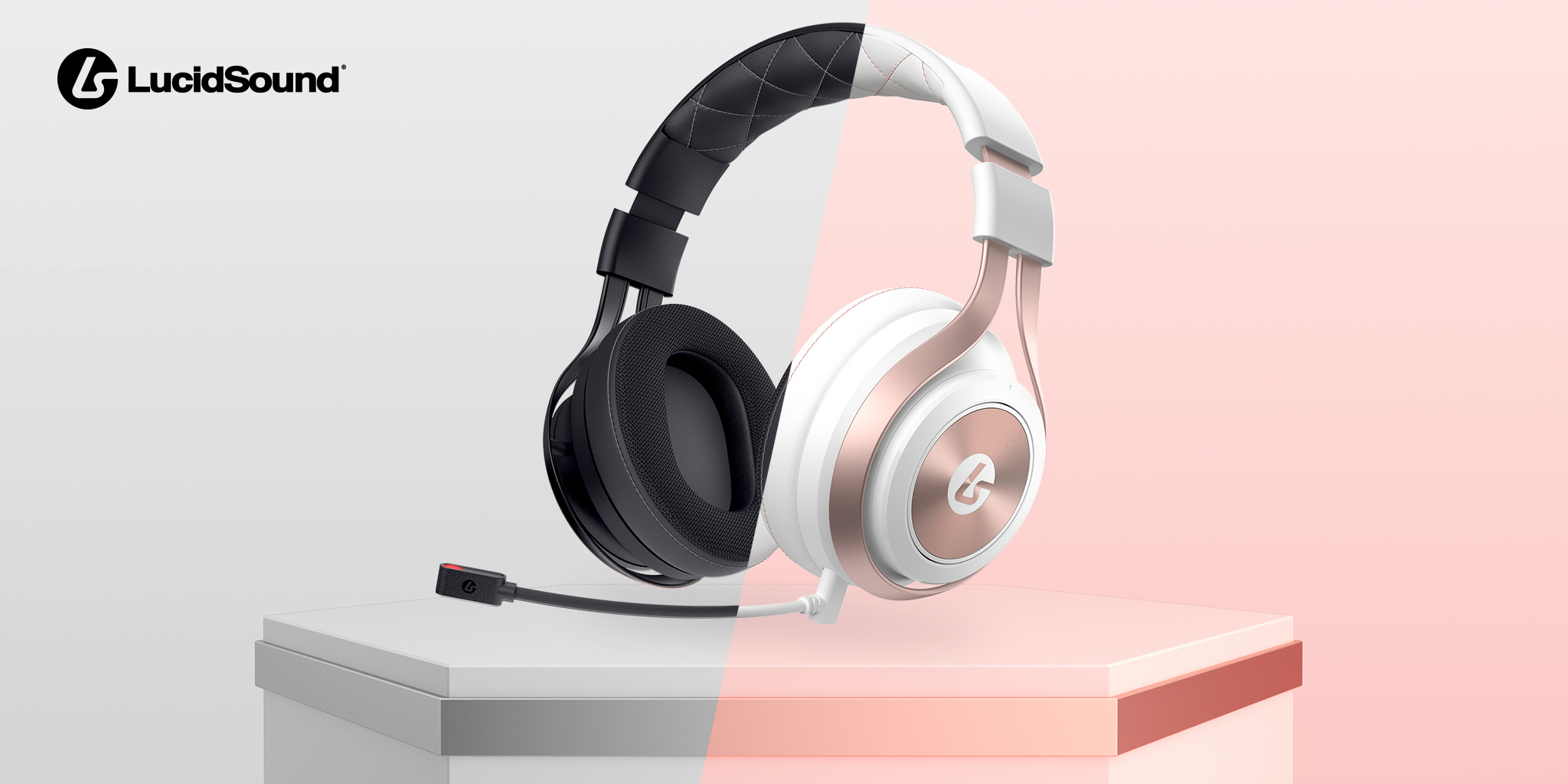 LucidSound announces price drop on award-winning LS35X Black & Rose Gold Headsets