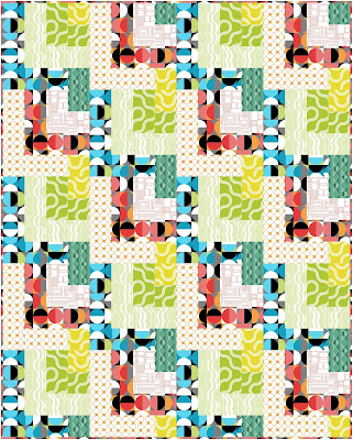 Dropping In quilt pattern Good Vibes fabrics