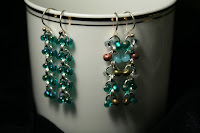 Fluidity earrings - sterling silver, Czech glass beads, chainmaille :: All the Pretty Things