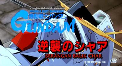 MS Gundam Char Counterattack Subtitle Indonesia