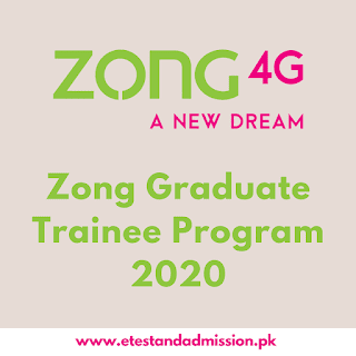 zong graduate trainee program 2020