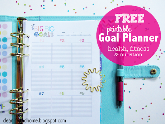 Freebie: Printable Goal Planner Page (A5 & Letter) and Color Selection