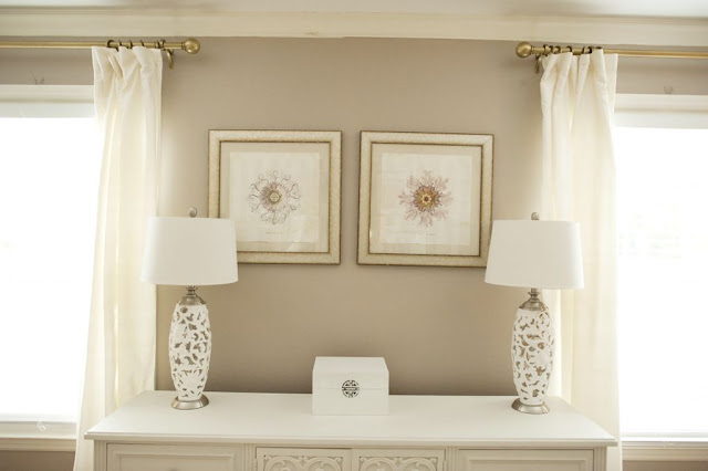 brass curtain rods living room white lacquered console