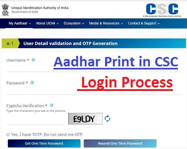 Aadhar Print in CSC