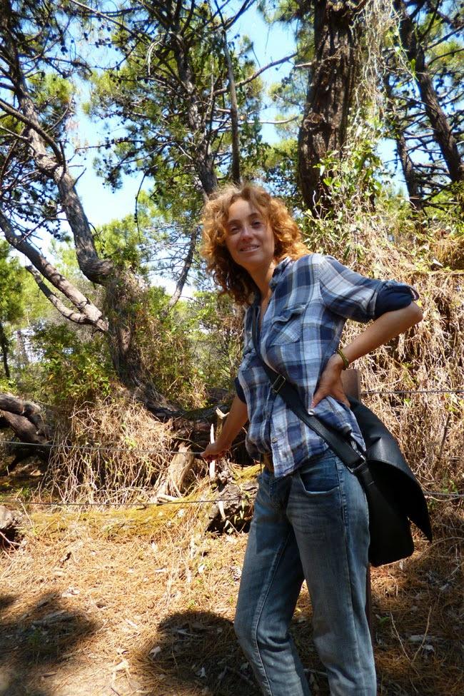 Passeando nos pinheiros cheirosíssimos do Parco dell'Uccelina