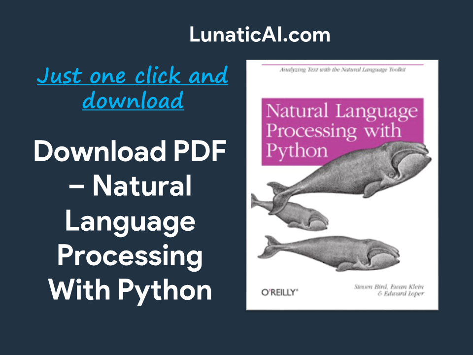 Natural Language Processing with Python PDF Github