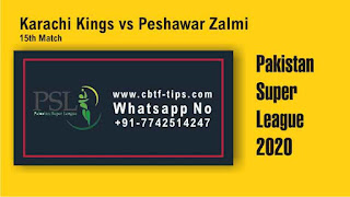 Who will win Today 15th match PES vs KAR PSL 2020