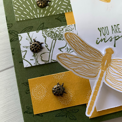 CLose up of the Ladybug Trinkets from Stampin' Up! Dandy Garden Suite