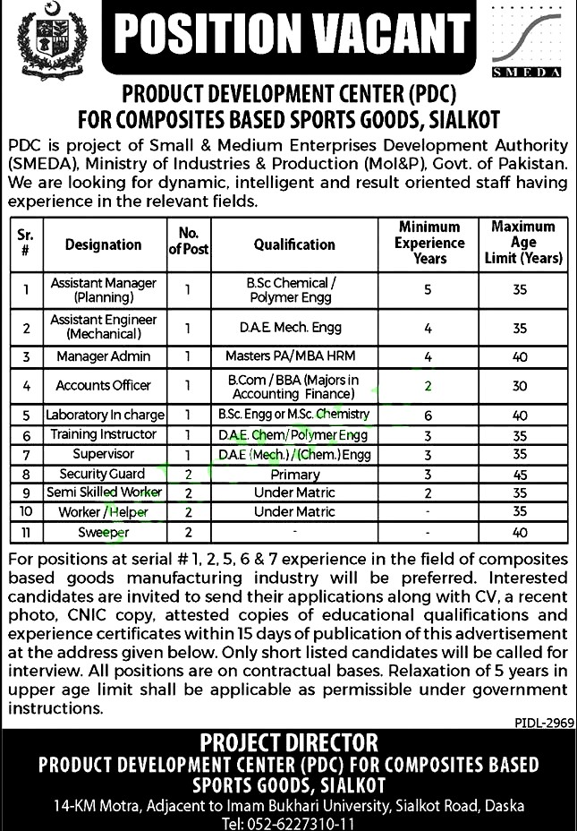 Latest New Jobs in Ministry of Industries And Production Pakistan 2021