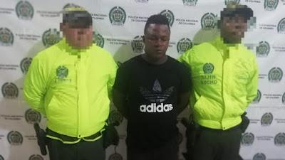 """Capturan al presunto homicida de Yordany Leudo Hinestroza conocido como """"malijo"""""""