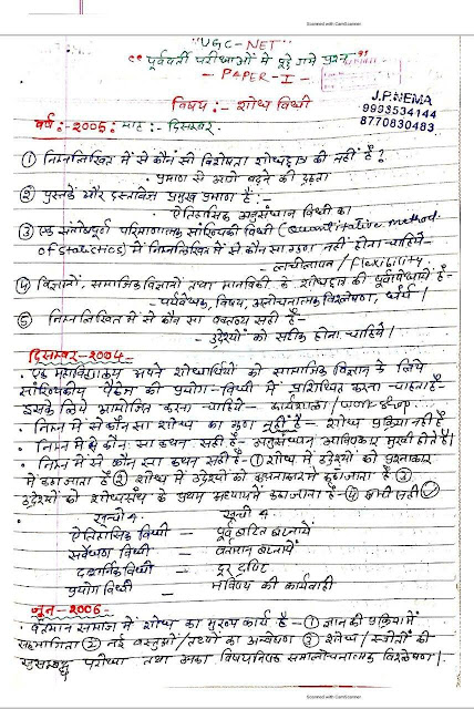Shodh vidhi unit-2 Handwritten Notes : For All Competitive Exam Hindi PDF Book
