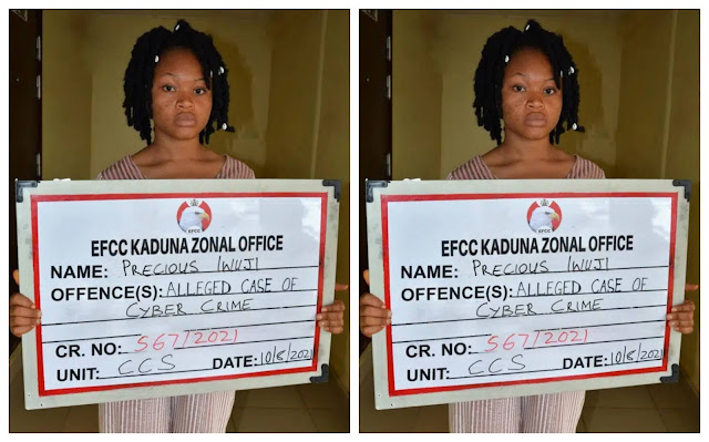 Lady arrested for selling her photos and Facebook account to fraudsters