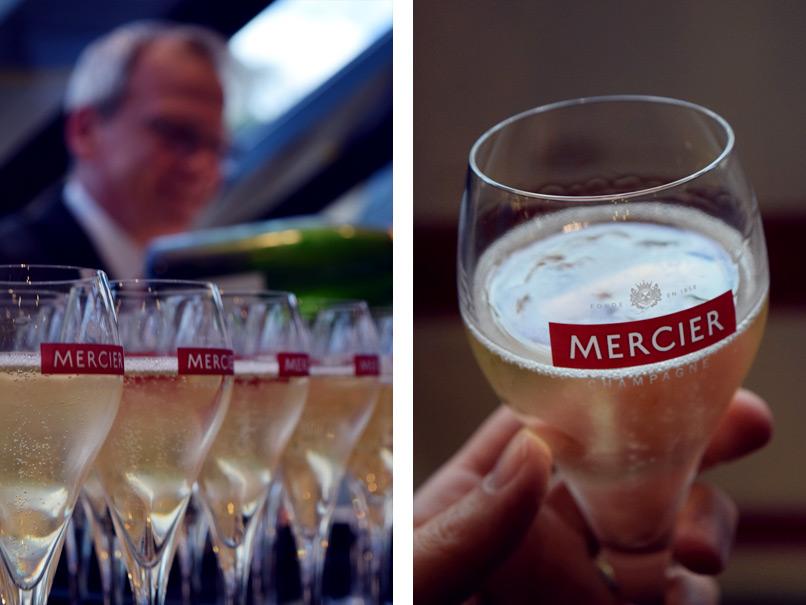 Champagne van Mercier proeven