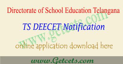 ts deecet 2019 notification,ts deecet notification 2019,ts dietcet application form 2019