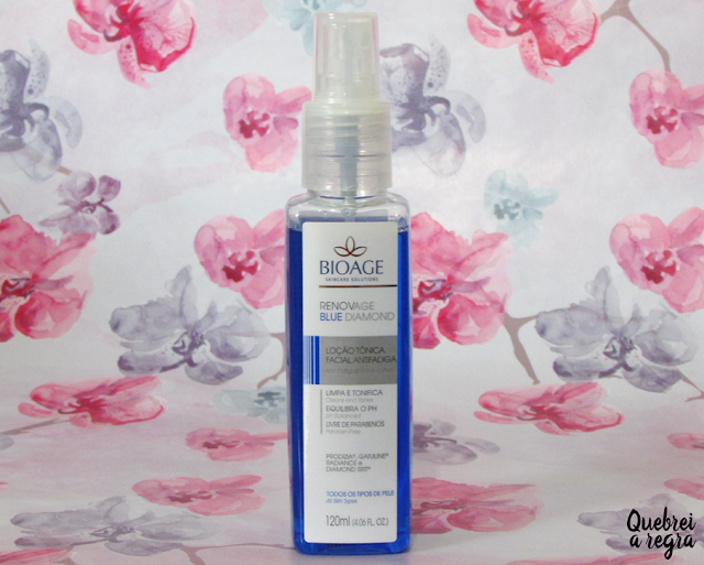 Renovage Blue Diamond, loção tônica facial antifadiga da Bioage