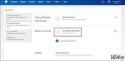 cara menambahkan rekening bank ke akun paypal 2019