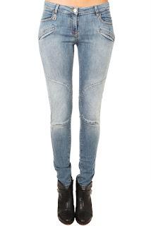 pierre balmain moto jeans, linda maintanis