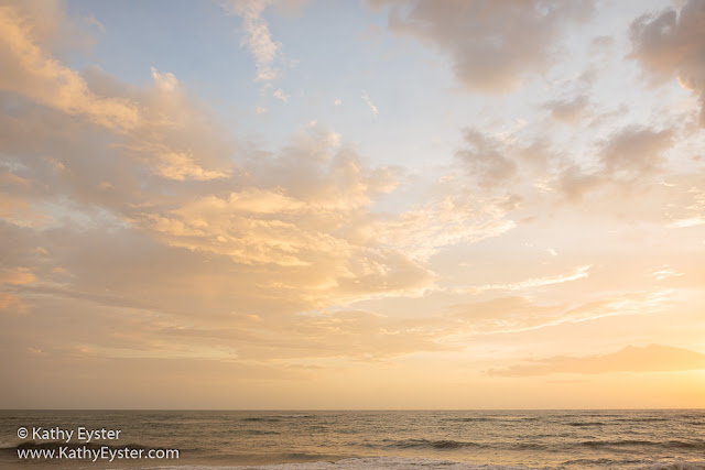 Sunrise sky and clouds over the Atlantic Ocean