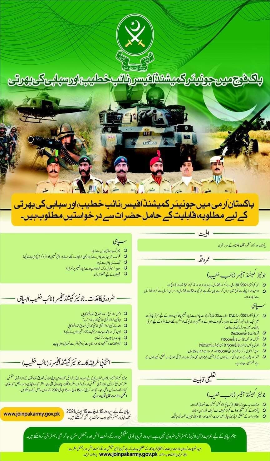 Pak Army Soldier Jobs 2021