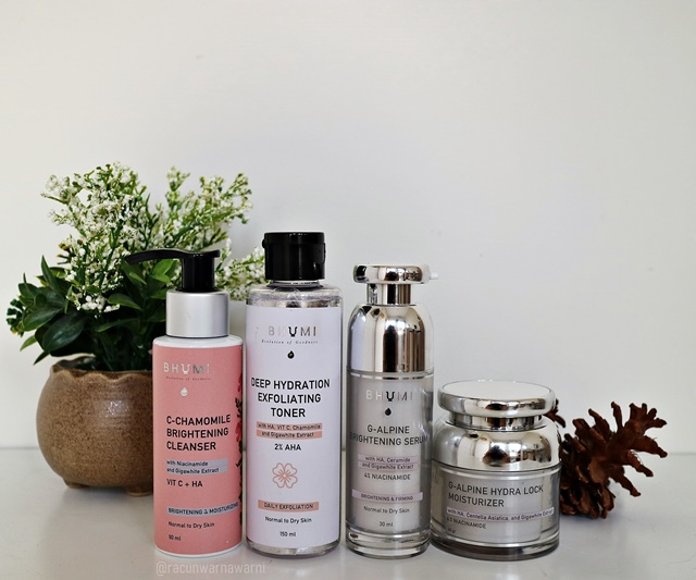 Set Skincare Lokal Bhumi for Brightening & Dehydrated