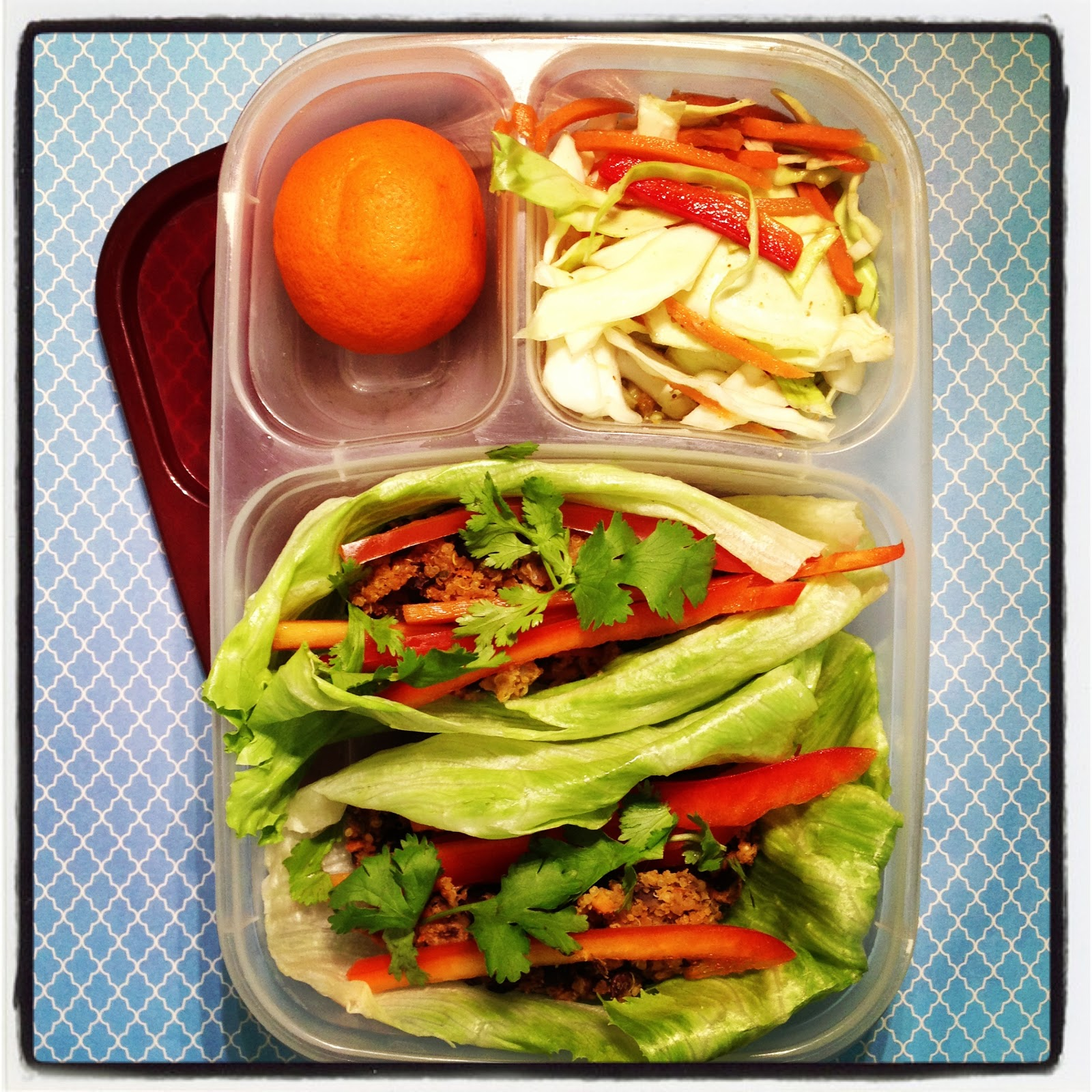 Lunch In A Box Amy In Austin Lunch In A Box Asian Black Bean Burger Lettuce Wraps