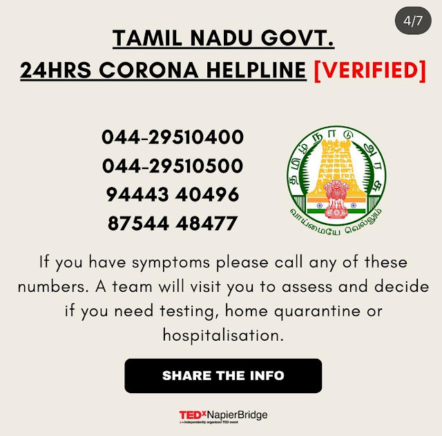 Image result for Tamil Nadu Govt 24 Hrs CORONA Helpline Numbers