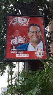 Benny Metz dispone el retiro de sus vallas y publicidad en San Cristóbal por tregua navideña