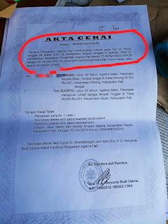 Oknum Kepala Desa Nekat Palsukan Akta Cerai Istrinya Di Pengadilan Agama Pati