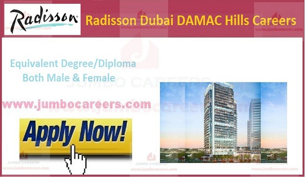 Hotel jobs with benefits in UAE,