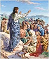 Jesus Teaching a crowd