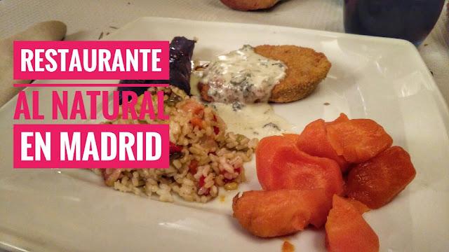 Restaurante vegetariano Al Natural en Madrid centro