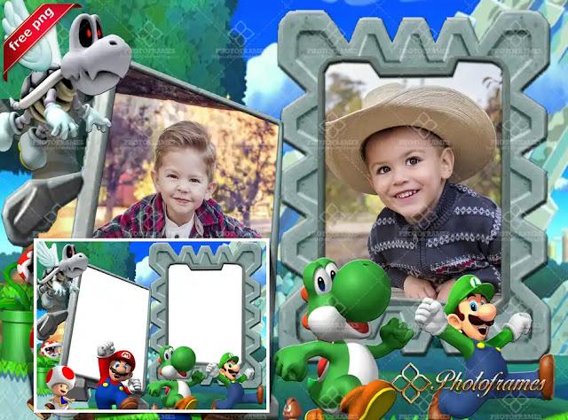 Marco infantil inspirado en Super Mario Bros