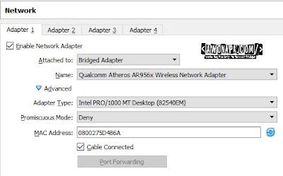 Bridge Adapter Network VirtualBox