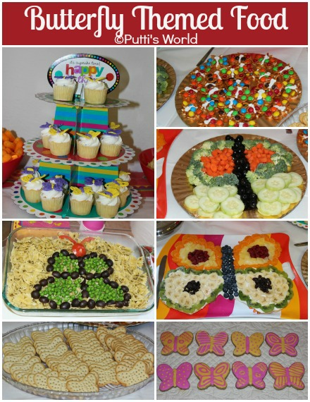 Butterfly Themed Food Kids Party Fun