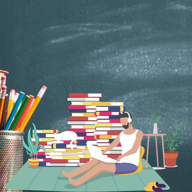 Gambar Kartun Anak Belajar di Rumah (25)