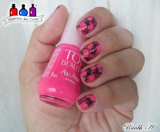 Born Pretty, BP-L024, esmaltes, Hibiscos, Outubro Rosa, Rosa Neon, Shopping, Top Beauty, unhas, Verão