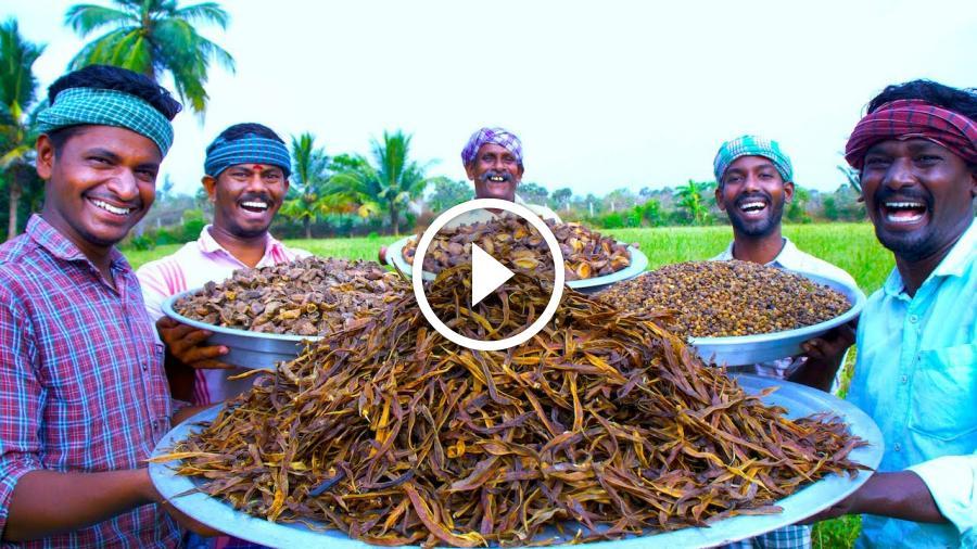 DRIED VEGETABLES | Vatha Kulambu Recipe | Dried Mangoes | Brinjal | Cluster Beans and Turkey Berry