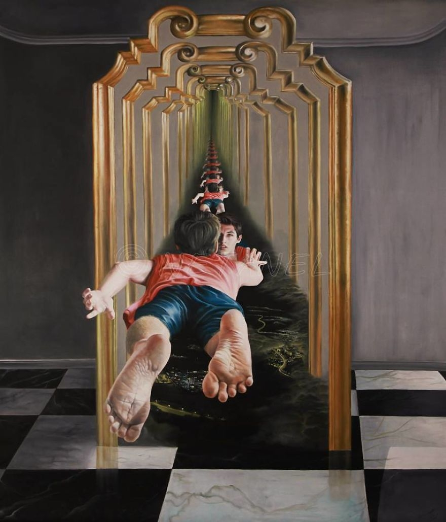 13-The-Call-Netanel Morhan-Artist-Depicts-Surreal-Dreams-and-Nightmares-with-Paintings-www-designstack-co