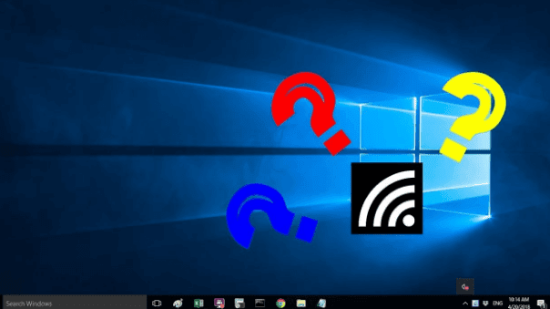 ikon wifi hilang windows 10